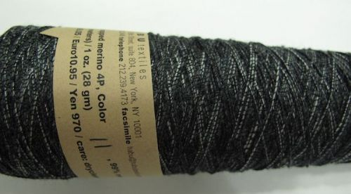 Habu textiles Silk wrapped merino N80 - Black
